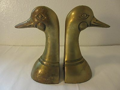 Jehvani Corp. Brass Duck Head Book Ends Korea Vintage 6""