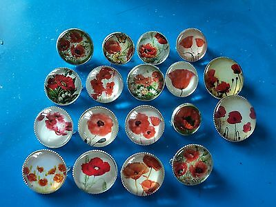 various poppy brooches