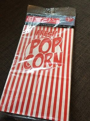Essentials Large Coated Paper Popcorn Bags - 10 Count