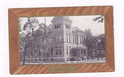 NY Antwerp New York antique udb post card  Town Hall View