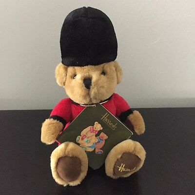 Harrods English Guardsman Sitting Bean Teddy Bear New With Tag Vintage Rare