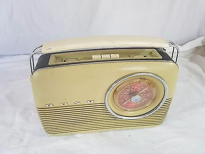 "1961 PORTABLE TRANSITOR RADIO by BUSH of LONDON  with FM BAND ""Type VTR103C"""
