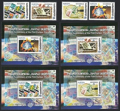 Georgia 50th Anniversary of Europa CEPT stamps 4v+ 4 MSs SG#MS488