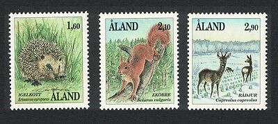 Aland Is. Hedgehog Squirrel Deer Mammals 3v SG#46/48