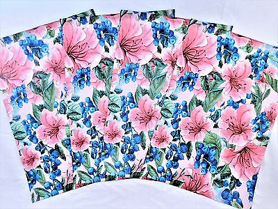 100 10x13 Pink Tropical Flower Berry Designer Mailer Poly Shipping Envelope Bags