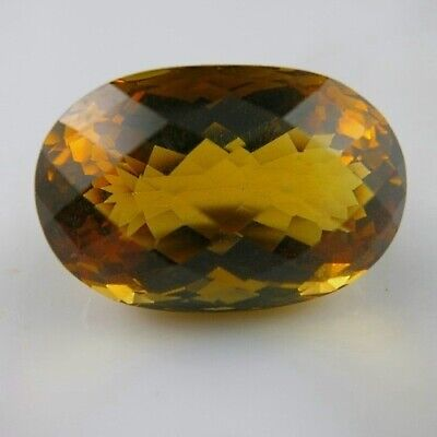 31,35 Ct. !! RIESIGER 24 x 16,2 mm Orange-Gelber Brasilien CITRIN