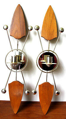 Mid-Century Modern Wall Sconces Candle Holders Candleholders Wall Decor