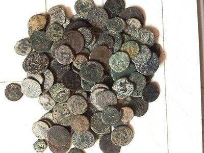 10 Lot of Ungraded, Unsorted and Uncleaned desert Roman coins !!