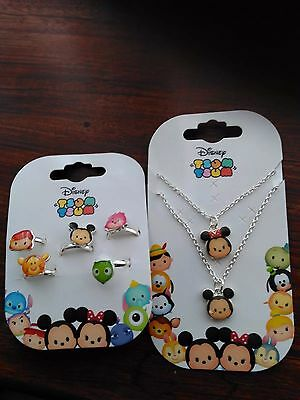 childrens jewellery Disney tsum tsum necklace and ring set