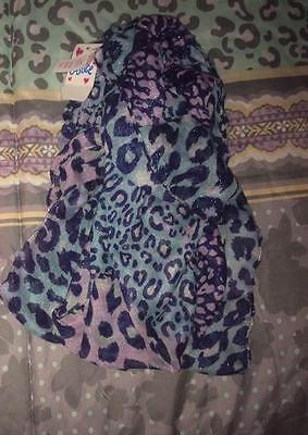 NWT Girls One Size Justice Sparkle Scarf