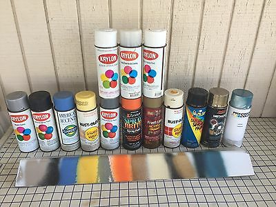 Vintage Assorted Lot Of 14 Spray Paint Cans  used