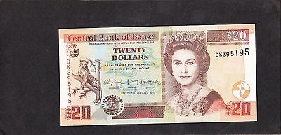 Belize 20 Dollars, 2010, P-69d, UNC