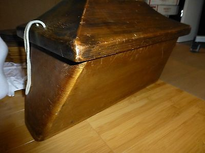Larry Rosso Large Art Hand Carved Canoe Bentwood Box Pacific Northwest wood rare