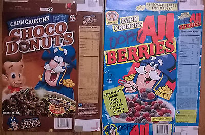 cap'n crunch cereal box JIMMY NEUTRON choco donuts 2002 All Berries 97 lot cindy