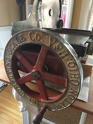 Antique Vintage 1921 DAYTON SCALE CO MEAT SLICER  Mercantile BEAUTIFUL GRAPHICS