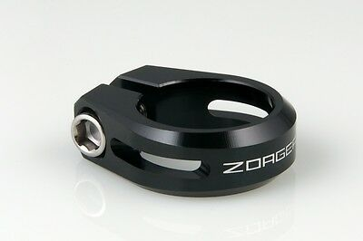 New ZOAGEAR CNC Alloy Bike Bicycle Cycle Seatpost Seat Post Clamp 31.8mm BK