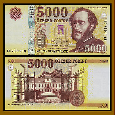 Hungary 5000 Forint, 2016 P-New Unc