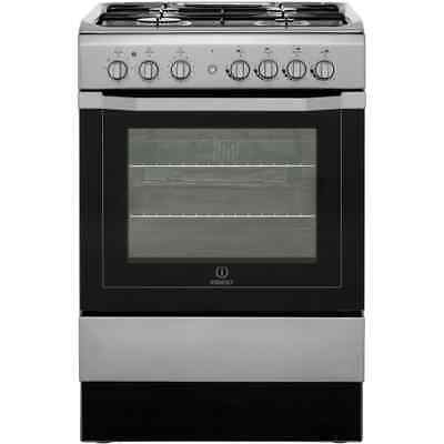 Indesit I6G52X Free Standing Dual Fuel Cooker with Gas Hob 60cm Stainless Steel