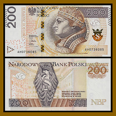 Poland 200 Zlotych, 2015 P-New Unc