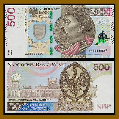 Poland 500 Zlotych, 2016 P-New Unc