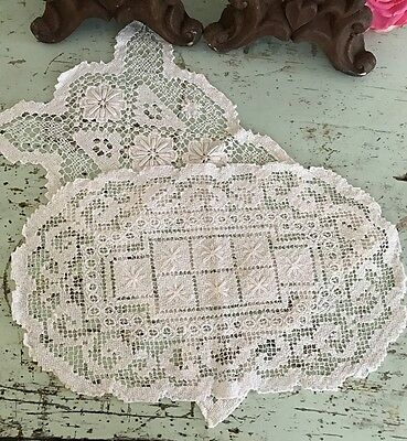 Shabby Vintage French Lace Doilies  Belle Brocante linen