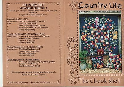 PATCHWORK QUILTING - 'Country Life' Pattern