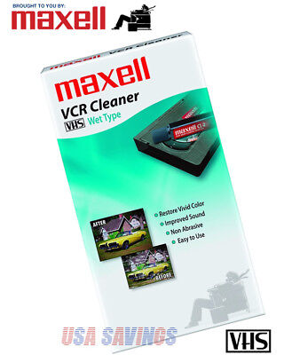 MAXELL Premium VCR Cleaner Wet Type VHS