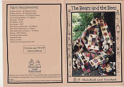 PATCHWORK QUILTING - 'Bears & Bees' Pattern
