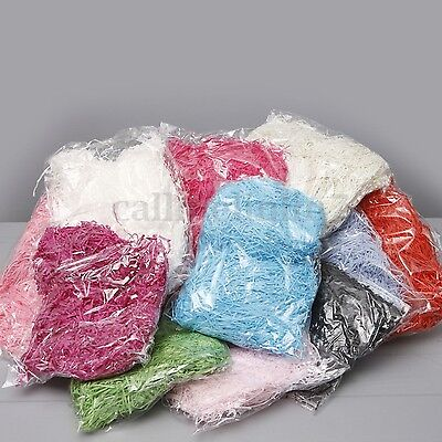100g SHREDDED TISSUE PAPER BAGS HAMPER BASKET COLOURED PAPER FILLER PACKAGING UK