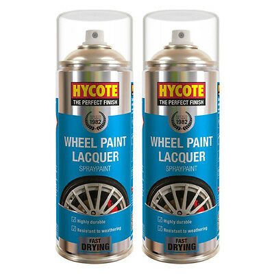Hycote Wheel And Trim Lacquer 2 Spray Cans Paint 400ml