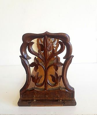 Carved Victorian Oak Book Slide