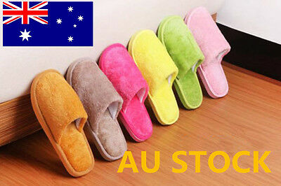 Men Women Home Anti-Slip Shoes Soft Warm Cotton House Indoor Slipper Candy Color