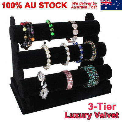 3Tier Rack Bangle Watch Bracelet Holder Stand Jewellery Display Organizer Velve