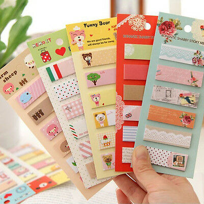 Cute Animal Country City Memo Pad Sticky Note Page Marker Tab Flags Planner 2017