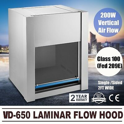 110V Pro VD-650 Laminar Flow Hood Air Flow Clean Bench Workstation Usa