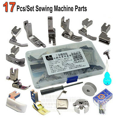 17pcs Sewing Machine Parts Presser Pressure Foot Accessories For Janome Brother