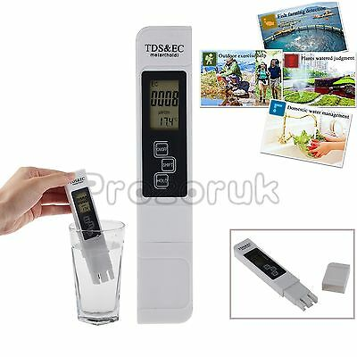 Digital LCD TDS EC Water Quality Purity Meter TEMP PPM Test Filter Tester Pen AU
