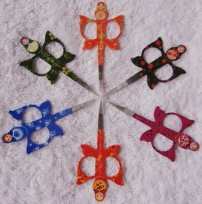 RUSSIAN BABUSHKA DOLL - Scissors / Embroidery  - 11 cm - choice of 6 colours