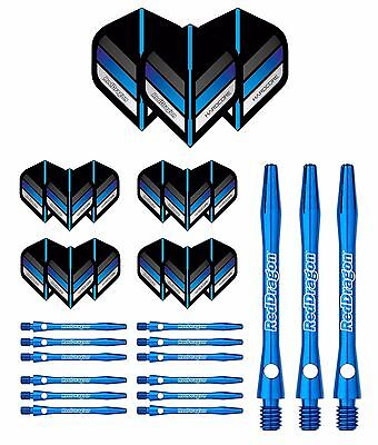 EXTRA THICK RED DRAGON Dart Flights and Shafts Stems - Blue