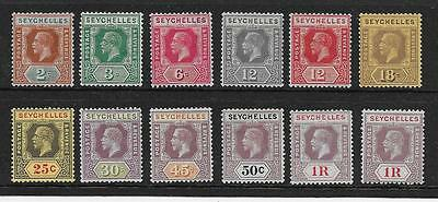 Seychelles  Selection Of Mint From 1921/32 Wmk Mult Script Ca Set  Fine Mounted