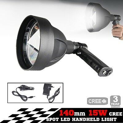 15W CREE LED Handheld Spot Light Rechargeable Spotlight Hunting T6 12V