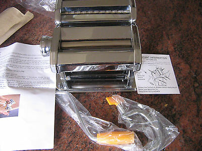 NEW 3 in 1 Pasta Lasagne Spaghetti Maker M/C Cutter Tagliatelle Stainless Steel