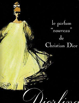 Diorling Christian Dior Vintage Ad 1960s Perfume CD Rene Gruau French
