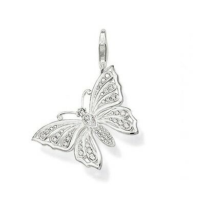 NEW Genuine Thomas Sabo Sterling Silver CZ set Butterfly charm ref 0455 rrp £39