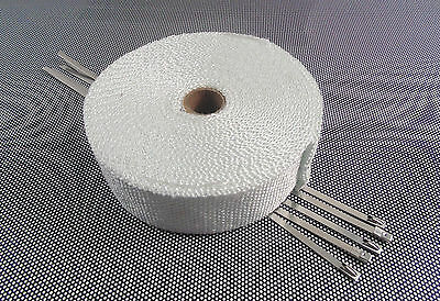 10m Of  Exhaust Manifold Downpipe Heat Wrap & 5 Ties P3