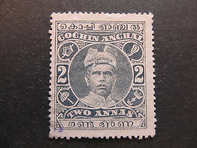 A4P34 Indian States Cochin 1911-13 2a used #20