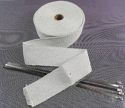 10m Of  Exhaust Manifold Downpipe Heat Wrap & 5 Ties T2