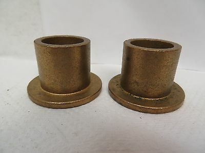 """New No Name Flanged Brass Bronze Bushing 3/4"""" Id 1"""" Od 1"""" Width """"lot Of 2"""""""