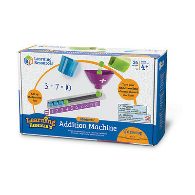 Learning Resources Learning Essentials Magnetic Addition Machine NEW