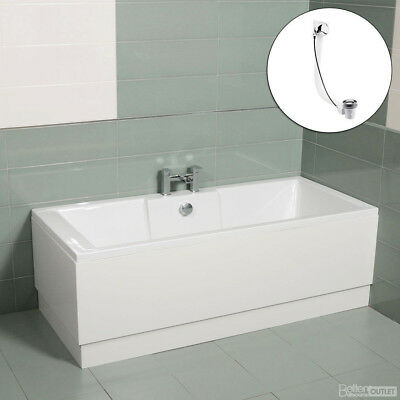 1600 Modern White Double Ended Acrylic Straight Bath Tub Left or Right Hand
